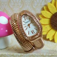 Used Single wrap around snake bangle watch Rose Gold in Dubai, UAE