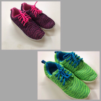 Used Shoes Pink & Green  in Dubai, UAE