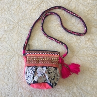 Used embroidered bag with tassels and beads in Dubai, UAE