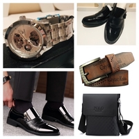 Used Men's shoes 43, belt, polo bag+watch in Dubai, UAE