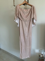 Used Beige sparkly dress back split  in Dubai, UAE