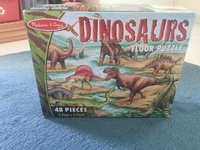 Used Dinosaur floor puzzle Melissa and Doug in Dubai, UAE