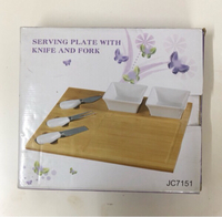Used Serving Plate with Knife & Fork in Dubai, UAE