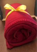 Used 2 sofa blankets - red color in Dubai, UAE