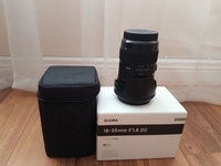 Used Sigma 18 - 35mm 1.8 Art Lens (EF) in Dubai, UAE