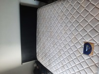 Used Bed with mattress and 2 bedside tables in Dubai, UAE
