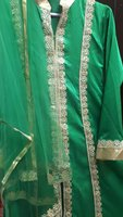 Used Green mehendi dress with dubatta & pants in Dubai, UAE