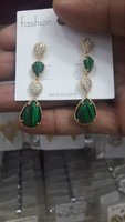 Used Party Wear Earrings Sea Green in Dubai, UAE