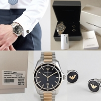 Used Authentic emporio Armani watch set in Dubai, UAE