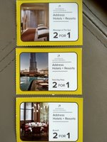 Used The Address Hotels & Resorts Voucher (3) in Dubai, UAE