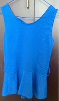 Used Brand new blue color blouse  in Dubai, UAE