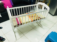 Used Juniors wooden baby cradle! Brand new!  in Dubai, UAE