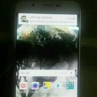 Used Samsung A8 1 Week Used Eros Warranty White Colour in Dubai, UAE
