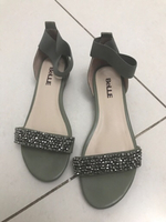 Used Mint Green Sandals Size 38 in Dubai, UAE