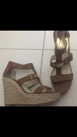 Used Brand New MK beige wedge, size 40 in Dubai, UAE