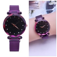 Used Beautiful purple magnetic strap watch in Dubai, UAE