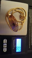 18k Real Gold Set of Necklace & Earrings