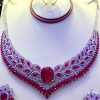Silver Necklace 925 Italian Brand New With Bankle Ring And Earing Micro Setting American Diamond Stone