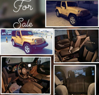 Used Wrangler / Sahara Special edition order Model: 2014 77km 1. Original stereo ,GPS, CD, USB, memory 22 GB u can save pics, vedios, music، phoen system.  2.electronic side mirror and widows  3. For wheel drive  4. Steering control + speed, volume, channels, system options  5. Hard top + soft top  6. Auto gear and teptronic 7. Convertable back seat 8. Full insurance (vip)  Just change brand new 4 tiers with guaranty the car is in very perfect condition and just did full service  Seriously buyers only  Phone 33358005 Price : 8300 Negotiable in Dubai, UAE