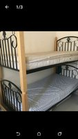 Used 2 stackable single beds with mattress in Dubai, UAE