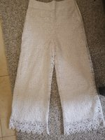 Used New zara white pants size medium in Dubai, UAE