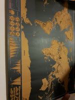Used Scratch off world map small black 2pcs in Dubai, UAE