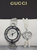 Used GUCCI LADIES WATCH SET WITH BOX zz in Dubai, UAE