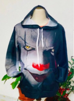 Used 3D Clown Hoodie size 5XL in Dubai, UAE