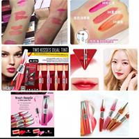 Hi, I'm selling ##LipTint The Most Popular Korea Style,let Me Pass U two points lip tint one point light and another darker color which u can make ur style changing as the color long last stay even than a day, 4 colors this model ! If u still looking for this as yup , very very pity if any lady missing this make up style ,always looking hot and too much adorable! Yup only lip Tint !2 Pieces In One Price Dear !