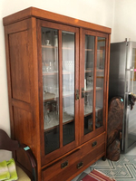 Used Antique wooden cupboard with glass front in Dubai, UAE