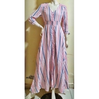 Used Long pink stripe dress/medium size in Dubai, UAE