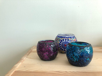 Used Candle holders- Turkish colorful glass  in Dubai, UAE