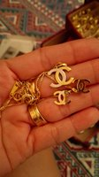 Used 18k Real Gold Set of Necklace & Earrings in Dubai, UAE
