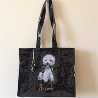 Harrods Dog Shoulder Bag. Brand New. Made Of Waterproof Oilcloth.