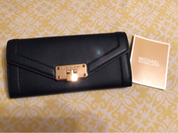 New Michael Kors Navy leather Wallet
