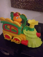 Used Train with  conductor toy for kids in Dubai, UAE