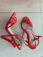 Used River Island heels in dark orange 🍊 38 in Dubai, UAE