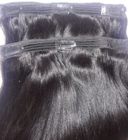 Used 100% human hair extension with clips in Dubai, UAE