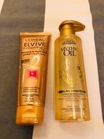 Used L'Oréal sparkling conditioner & hair oil in Dubai, UAE