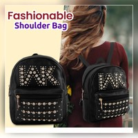 New fashionable black backpack for girls