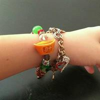 Used Adore And Various Charms Bracelet; Used Only Once; The Lucky Charm Has Tiny Flaw But Not Noticeable in Dubai, UAE