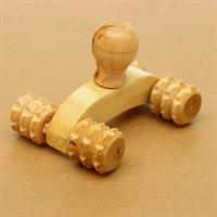 1Pcs Full Body Four Wheels Wooden Car Roller Relaxing Hand Massage Tool