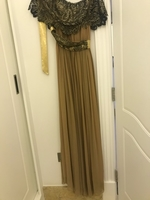 Used Brown Dress with Belt  in Dubai, UAE