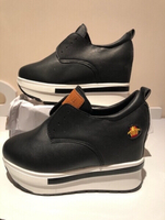 Used Black hight wedge shoes size 36 in Dubai, UAE