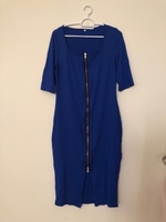 NEW Midi Dress LARGE Royal Blue