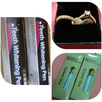 Used 2 rings+teeth whitening pen+Eyelash Glue in Dubai, UAE