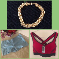 Used NEW Chain Bracelet + Sports Bra + Shorts in Dubai, UAE
