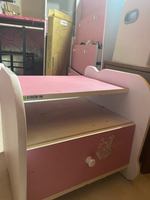 Used Pink bedside table with drawer in Dubai, UAE