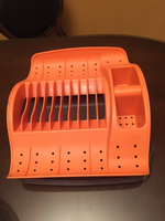 Dish washing rack with tray to hold wate