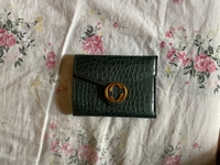 Used Leather wallet (Dark green) in Dubai, UAE